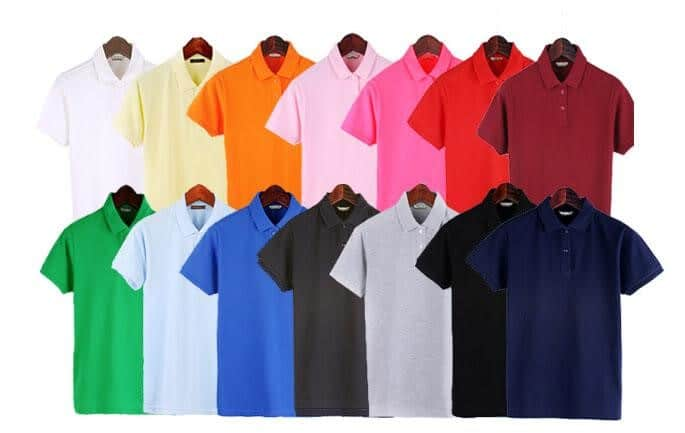 Đồng phục áo thun có nhiều kiểu dáng hơn áo sơ mi