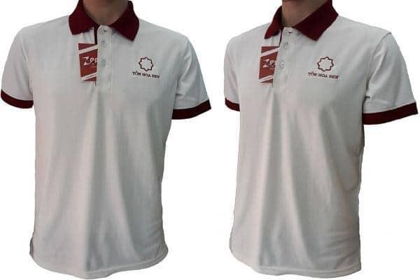 Áo thun đồng phục thể thao được may chi tiết, cẩn thận